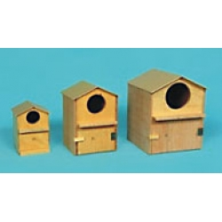 "Wooden Bird House  (4""X 4""X 6""H)"